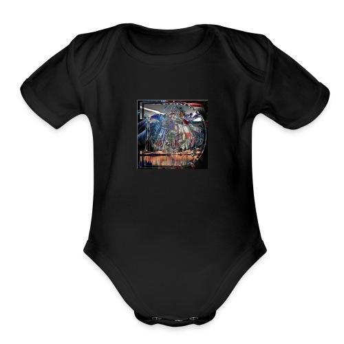 dvr1234 - Organic Short Sleeve Baby Bodysuit