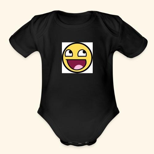 emojy nation - Organic Short Sleeve Baby Bodysuit