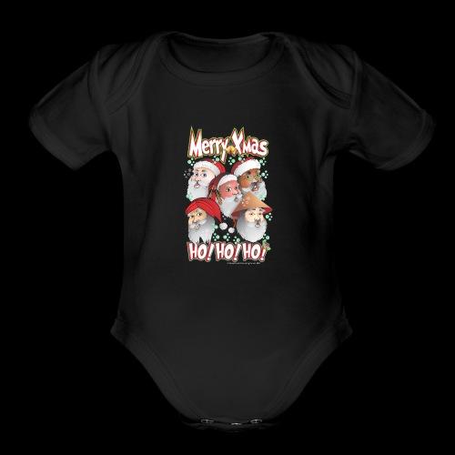 xmastshirtdesignsHoHoHo - Organic Short Sleeve Baby Bodysuit