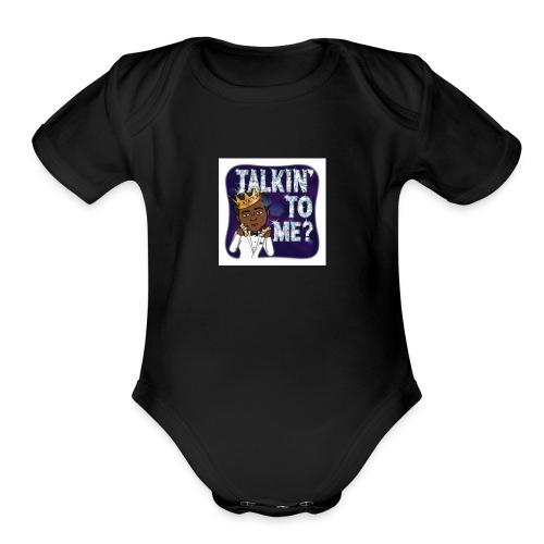 You Talking To Me - Organic Short Sleeve Baby Bodysuit