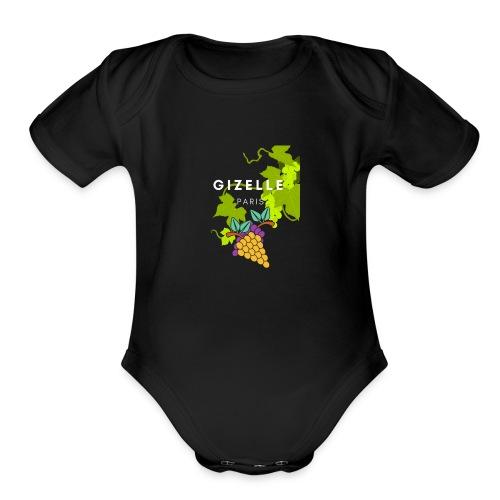 Gizelle Paris Snow Grapes Trans - Organic Short Sleeve Baby Bodysuit