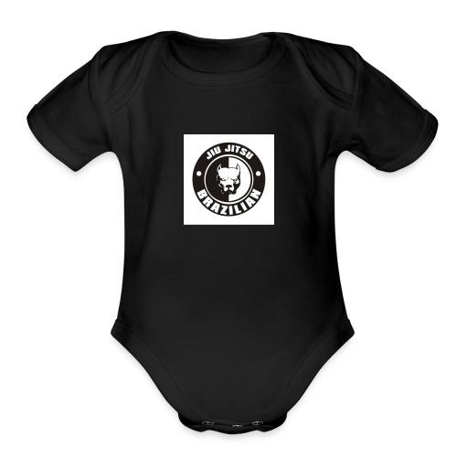 74a12c576b00f2875ab2ccbfda5c485e brazilian jiu ji - Organic Short Sleeve Baby Bodysuit