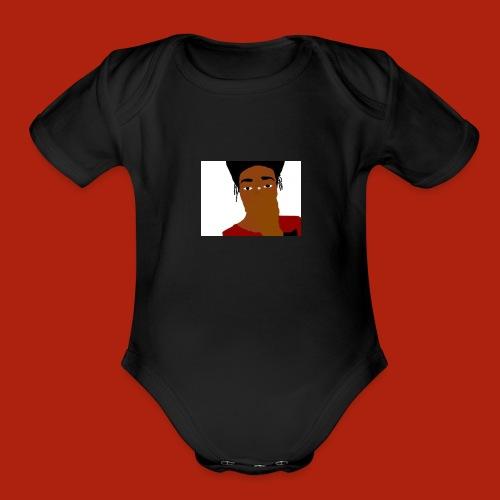 KingKurt's Bad Cartoon - Organic Short Sleeve Baby Bodysuit
