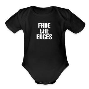 Fade the Edges White - Short Sleeve Baby Bodysuit