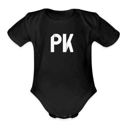PK Squad Logo - Organic Short Sleeve Baby Bodysuit