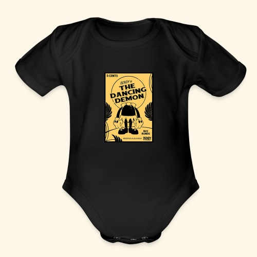 bendy poster - Organic Short Sleeve Baby Bodysuit