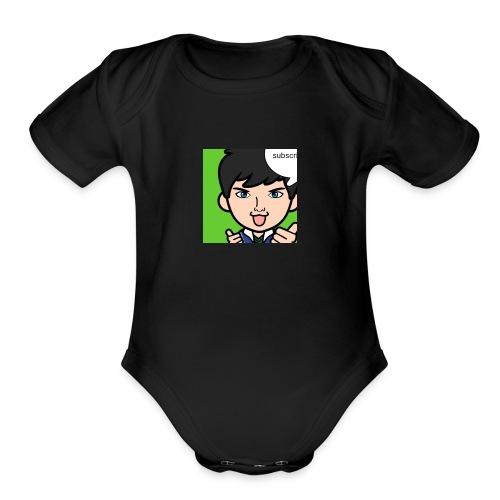 303020870 1014917706 3lijah gang - Organic Short Sleeve Baby Bodysuit