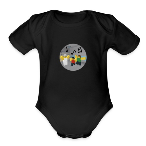 Roblox Music - Organic Short Sleeve Baby Bodysuit