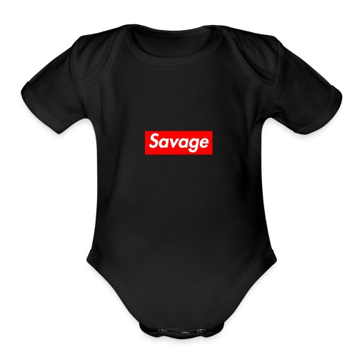 BE A SAVAGE BY ALISTAIR ROBERTS - Organic Short Sleeve Baby Bodysuit
