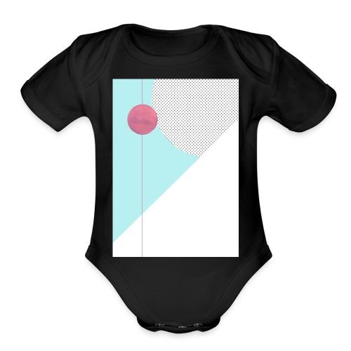 Retro Mars! - Organic Short Sleeve Baby Bodysuit