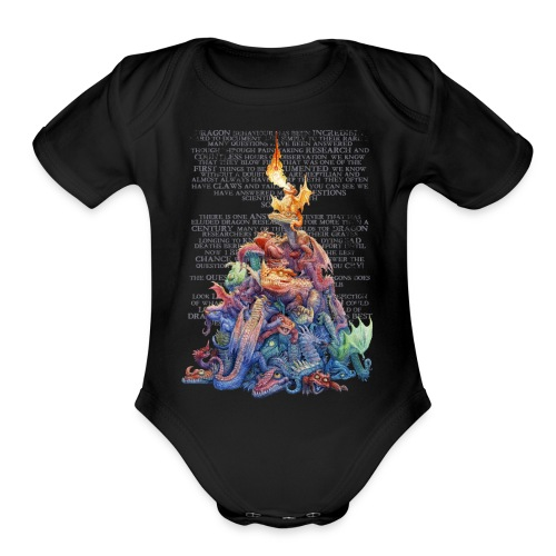Answer to the Question Dragons - Organic Short Sleeve Baby Bodysuit