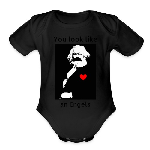 Marx_love_Shirt - Organic Short Sleeve Baby Bodysuit