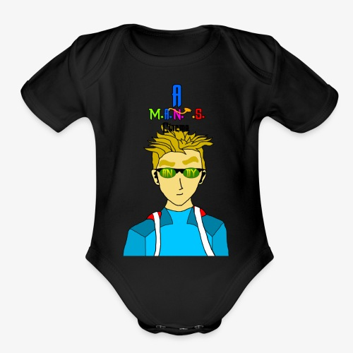 Andy For Merch MANS Cinema - Organic Short Sleeve Baby Bodysuit
