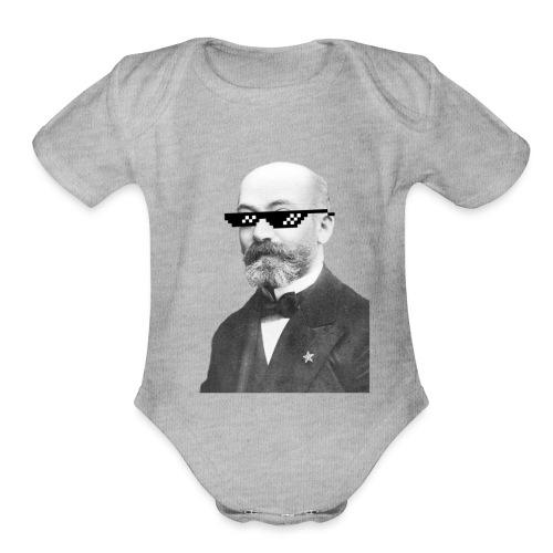 Zamenhof Shades (BW) - Organic Short Sleeve Baby Bodysuit