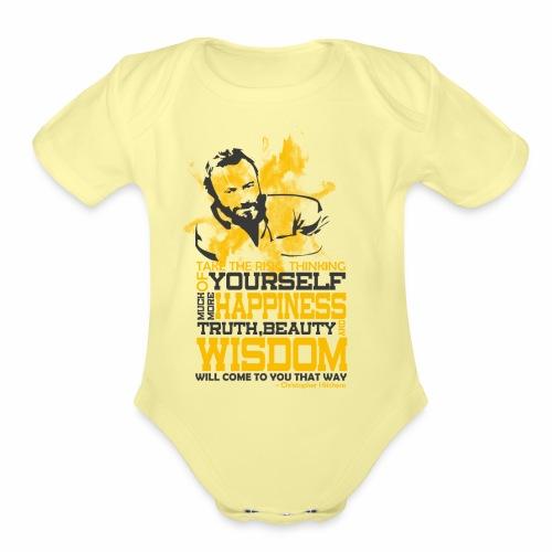 Happiness and Wisdom - Organic Short Sleeve Baby Bodysuit