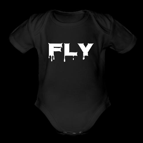 Fly T-shirt - Organic Short Sleeve Baby Bodysuit