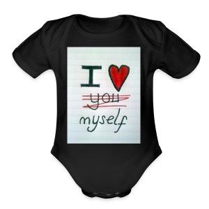 I love myself tshirts - Short Sleeve Baby Bodysuit