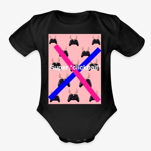 Super *clickbait* - Organic Short Sleeve Baby Bodysuit