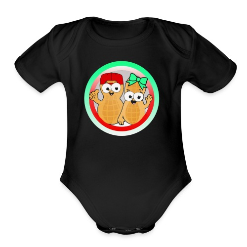 CoupleofNutts - Organic Short Sleeve Baby Bodysuit