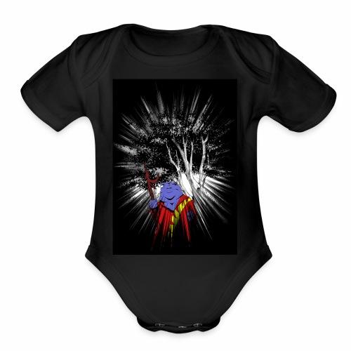 Blue Sappo - Organic Short Sleeve Baby Bodysuit