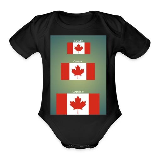 Canada? Canada CANADA!!!! - Organic Short Sleeve Baby Bodysuit