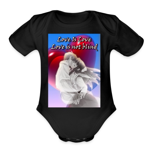 For Lovely couples - Organic Short Sleeve Baby Bodysuit