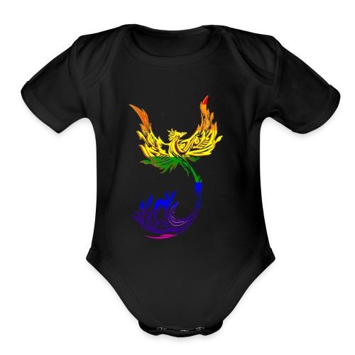 Rainbow Phoenix - Organic Short Sleeve Baby Bodysuit