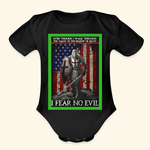 I FEAR NO EVIL - Organic Short Sleeve Baby Bodysuit