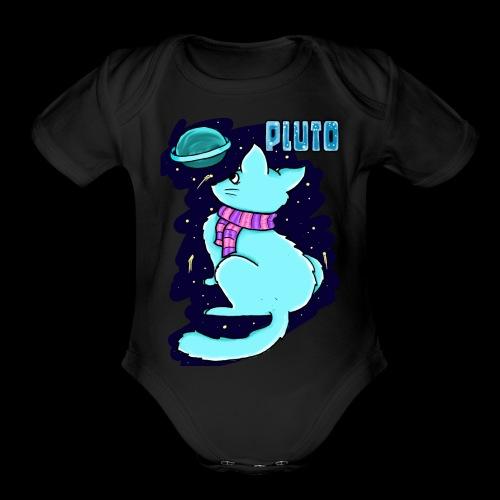 Pluto Kitty - Organic Short Sleeve Baby Bodysuit