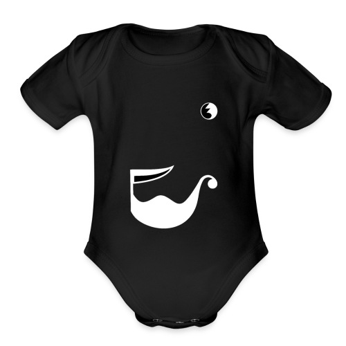 All Sails To The Wind on dark - Organic Short Sleeve Baby Bodysuit