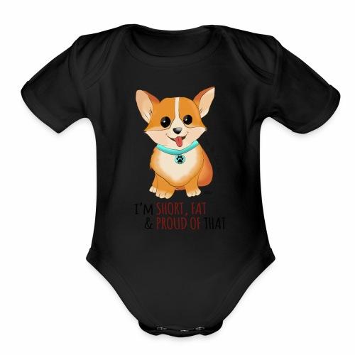 Corgi Tshirt - Organic Short Sleeve Baby Bodysuit