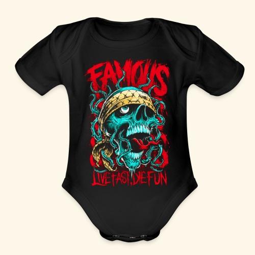 Live Fast Die Fun - Organic Short Sleeve Baby Bodysuit