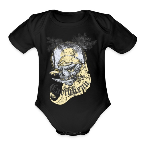Carribean - Organic Short Sleeve Baby Bodysuit