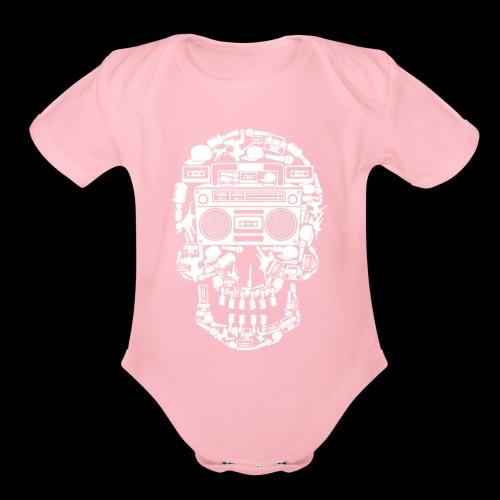 Audio Skull - Organic Short Sleeve Baby Bodysuit