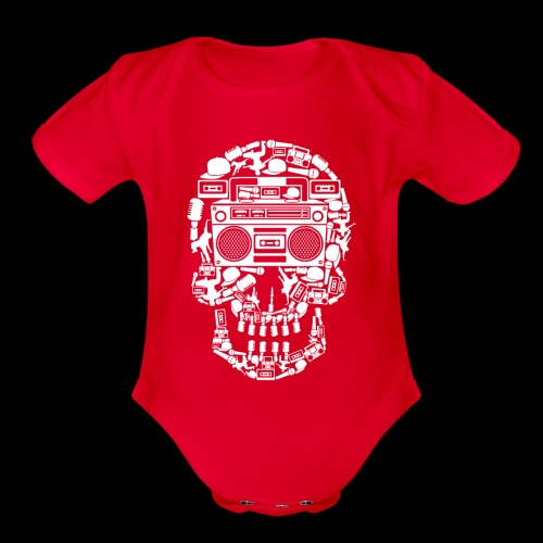 Audio Skull - Organic Short Sleeve Baby Bodysuit