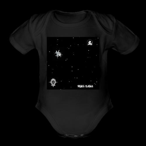 Spotty Crunch Alaska - Organic Short Sleeve Baby Bodysuit
