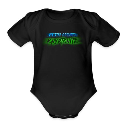 Karbs Are My Kryptonite - Organic Short Sleeve Baby Bodysuit