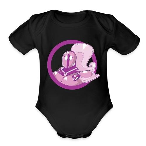 Bram Curtis 1 P1nk Knight 02 - Organic Short Sleeve Baby Bodysuit