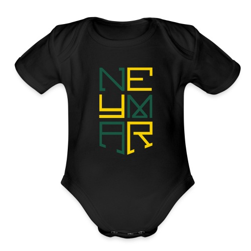 Neymar T Shirt Design - Organic Short Sleeve Baby Bodysuit