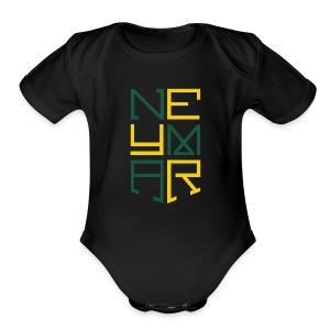 Neymar T Shirt Design - Short Sleeve Baby Bodysuit