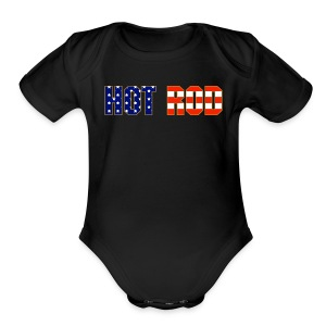 Hot Rod in Red and Blue - Short Sleeve Baby Bodysuit