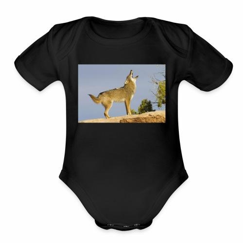 coyote - Organic Short Sleeve Baby Bodysuit