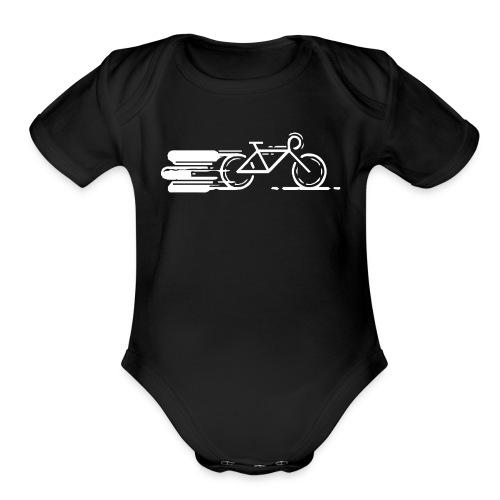 Cycling T Shirt - Organic Short Sleeve Baby Bodysuit