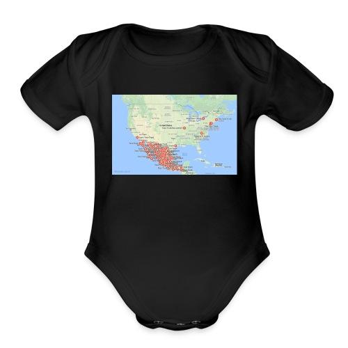 Taco_map - Organic Short Sleeve Baby Bodysuit