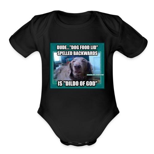 Dog meme - Organic Short Sleeve Baby Bodysuit
