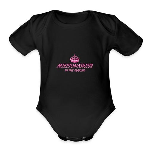 Millionairess In The Making - Organic Short Sleeve Baby Bodysuit