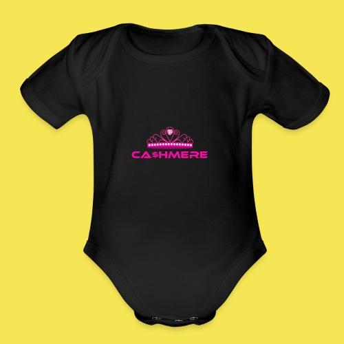 Ca$hmere Blocked - Organic Short Sleeve Baby Bodysuit