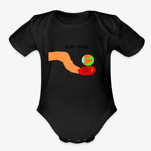 PLAY HARD - Organic Short Sleeve Baby Bodysuit