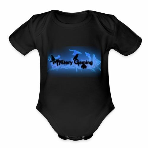 MysteryGamingLogo2 - Organic Short Sleeve Baby Bodysuit