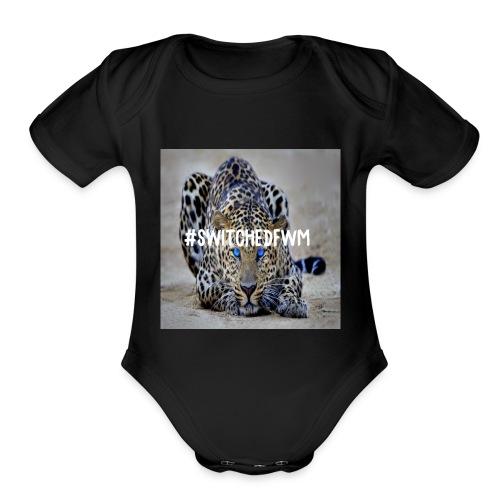 Jaguar print! - Organic Short Sleeve Baby Bodysuit